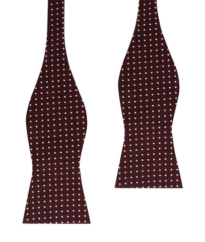 Burgundy Cotton Polkadot Self Bow Tie