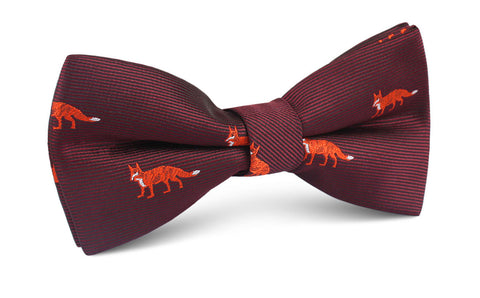 Burgundy Fox Bow Tie