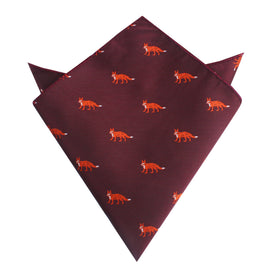 Burgundy Fox Pocket Square