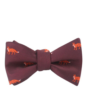 Burgundy Fox Self Bow Tie