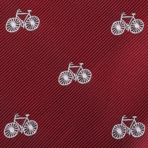Burgundy French Bicycle Pocket Square
