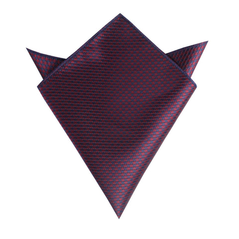Burgundy Houndstooth Pocket Square