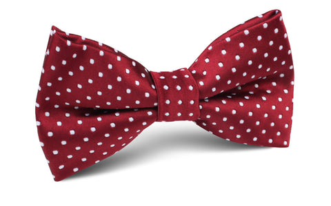 Burgundy Mini Polka Dots Bow Tie