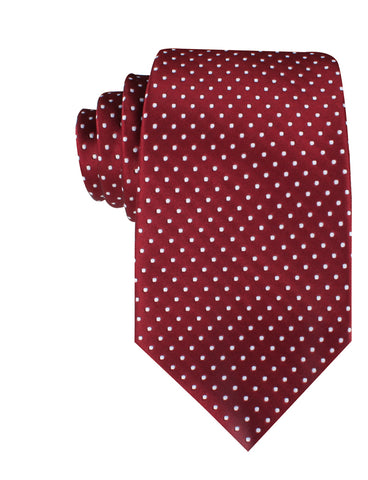 Burgundy Mini Polka Dots Necktie
