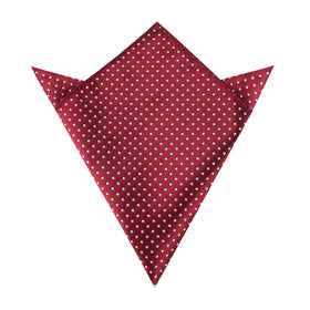 Burgundy Mini Polka Dots Pocket Square
