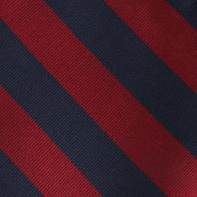 Burgundy & Navy Blue Stripes Pocket Square