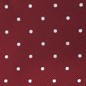Burgundy Polka Dots Kids Bow Tie