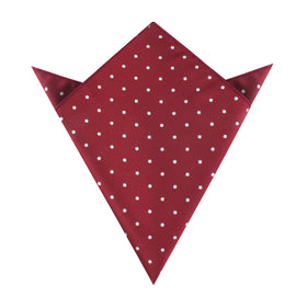 Burgundy Polka Dots Pocket Square