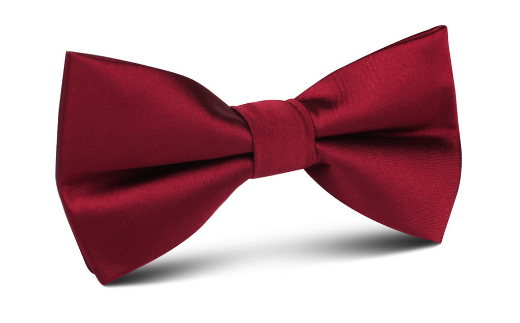f829e89ad528 Burgundy Satin Bow Tie   Solid Textured Mens Bowties Bowtie Ties ...