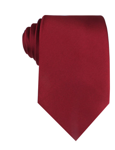 Burgundy Satin Necktie