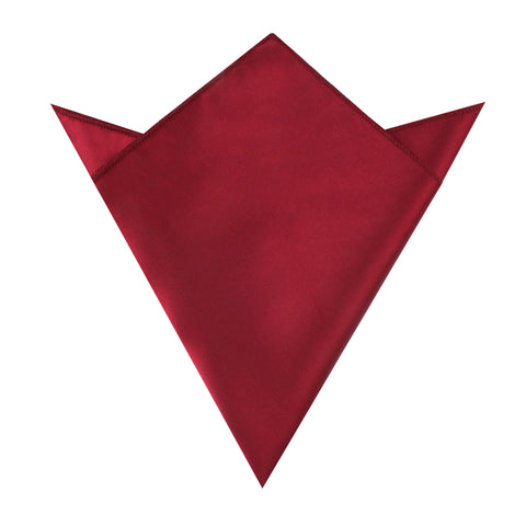 Burgundy Satin Pocket Square