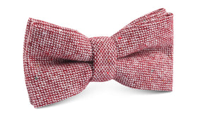 Burgundy Sharkskin Bow Tie