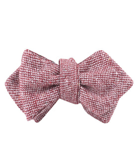 Burgundy Sharkskin Diamond Self Bow Tie