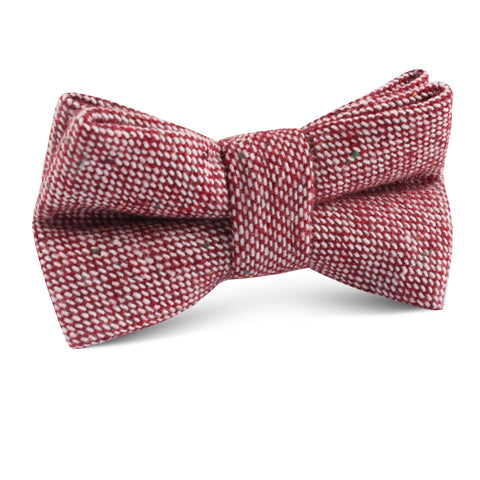 Burgundy Sharkskin Kids Bow Tie