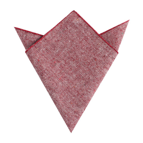 Burgundy Sharkskin Pocket Square