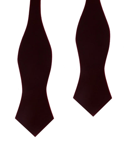 Burgundy Velvet Diamond Self Bow Tie