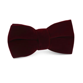 Burgundy Velvet Kids Bow Tie