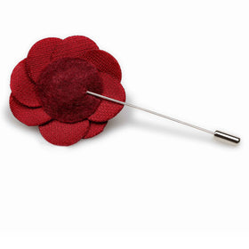Burgundy Velvet Lapel Flower