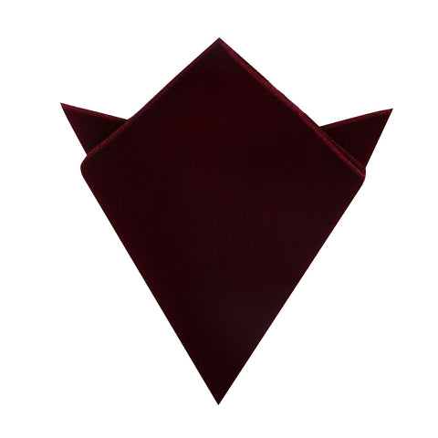 Burgundy Velvet Pocket Square