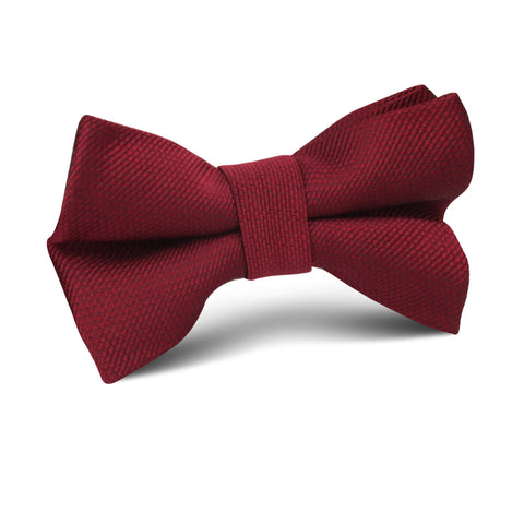 Burgundy Weave Kids Bow Tie