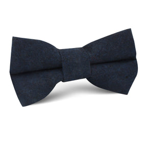 Burnt Boston Navy Blue Kids Bow Tie