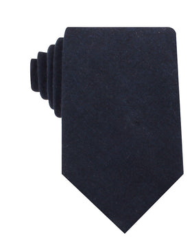 Burnt Boston Navy Blue Necktie