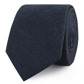 Burnt Boston Navy Blue Skinny Tie