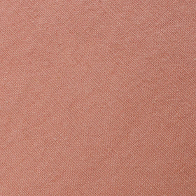 Burnt Coral Sunset Pink Chenille Linen Pocket Square