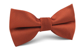 Burnt Orange Rust Weave Bow Tie
