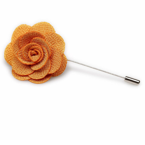 Butterscotch Lapel Flower