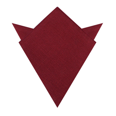 Cabernet Burgundy Linen Pocket Square