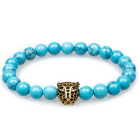 Cairo Blue Turquoise Black Panther Bracelet