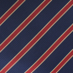 Cambridge Navy Blue with Royal Red Stripes Bow Tie
