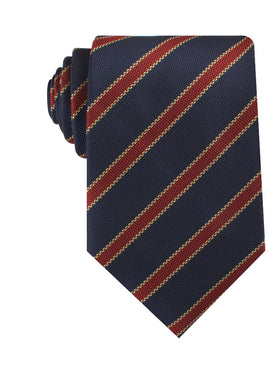 Cambridge Navy Blue with Royal Red Stripes Necktie