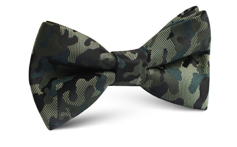 Camouflage Army Green Bow Tie