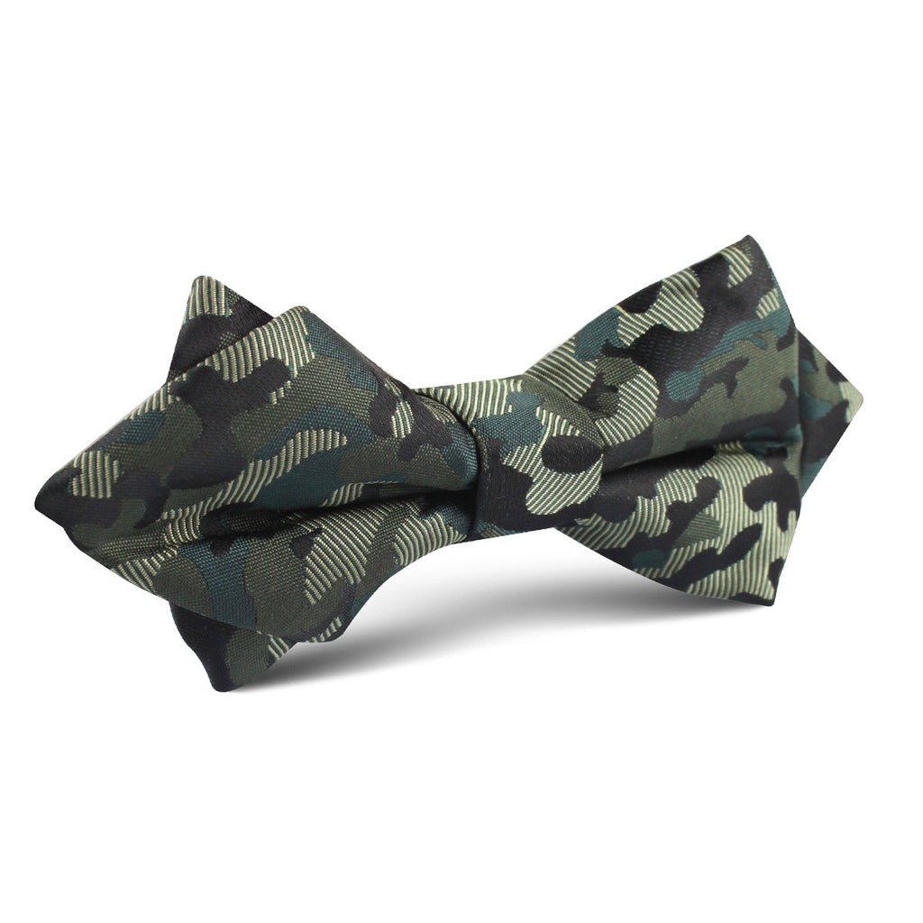 Camouflage army green diamond bow tie men point bowtie ties otaa camouflage army green diamond bow tie ccuart Choice Image