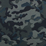 Camouflage Army Green Fabric Skinny Tie