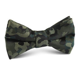 Camouflage Army Green Kids Bow Tie
