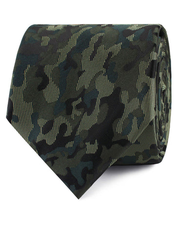 Camouflage Army Green Tie
