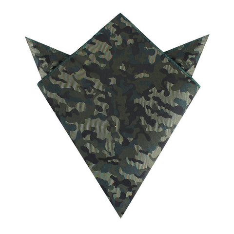 Camouflage Army Green Pocket Square