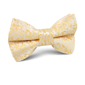 Canary Yellow Floral Fields Kids Bow Tie
