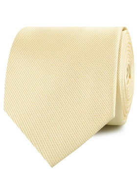 Canary Blush Yellow Weave Necktie