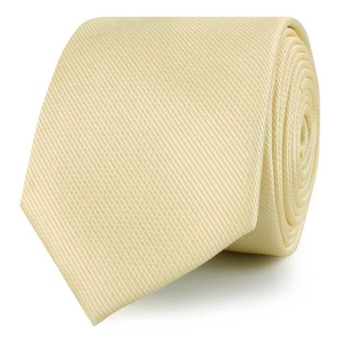 Canary Blush Yellow Weave Skinny Tie