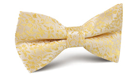 Canary Yellow Floral Fields Bow Tie