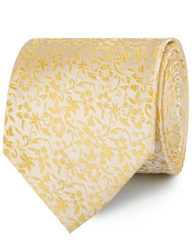 Canary Yellow Floral Fields Necktie