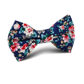 Cancún Blue Floral Kids Bow Tie