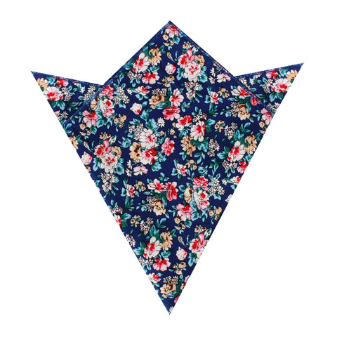 Cancún Blue Floral Pocket Square