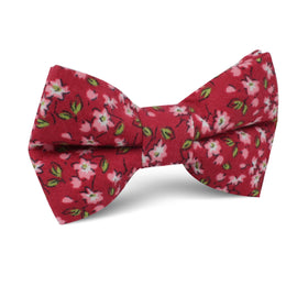 Cano Cristales Scarlet Floral Kids Bow Tie