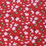 Cano Cristales Scarlet Floral Pocket Square Fabric