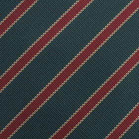 Canterbury Green with Royal Red Stripes Kids Bow Tie